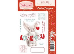 Crafters Company: BeBunni Stempel Rubber stamp, BeBunni topic: I Love You