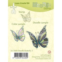 Transparent stempel: Zentangle sommerfugl