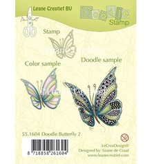 Leane Creatief - Lea'bilities Transparent stamp: Zentangle butterfly