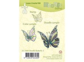 Leane Creatief - Lea'bilities Transparent stempel: Zentangle sommerfugl