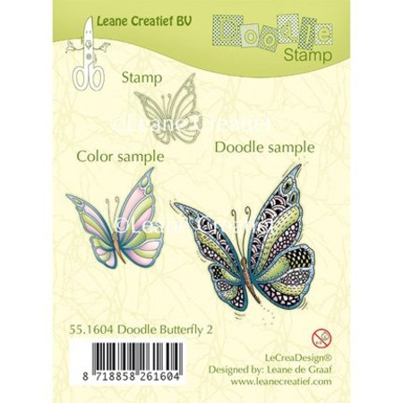 Leane Creatief - Lea'bilities Transparent Stempel: Zentangle Schmetterling