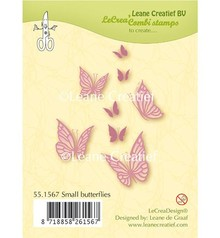Leane Creatief - Lea'bilities Transparent stamp: small butterflies