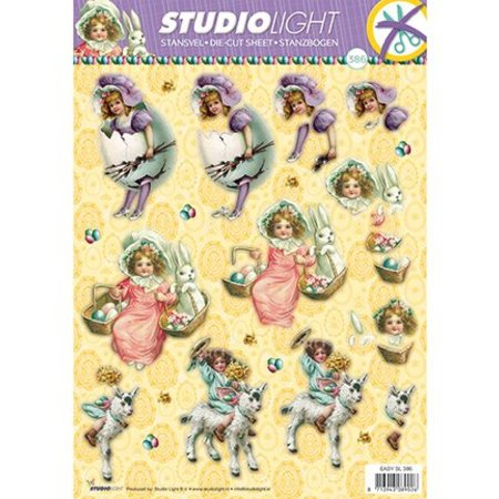 BILDER / PICTURES: Studio Light, Staf Wesenbeek, Willem Haenraets A4 Stanzbogen, Thema: Ostern
