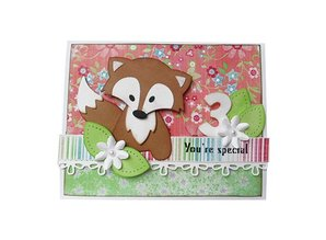 Marianne Design Stamping and embossing folder, Fox
