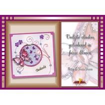 Bastelbuch Tema: Mariposas con Stickvorlage