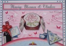 Bücher und CD / Magazines Bastelbuch Tema: Farfalle e fiori con Stickvorlage