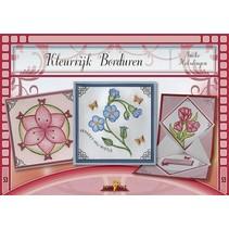 Bastelbuch theme: flowers with Stickvorlage