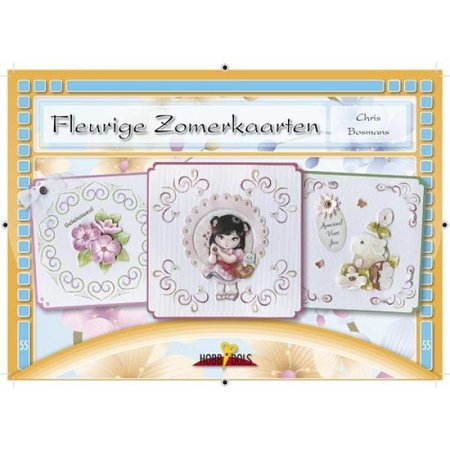 Bücher und CD / Magazines Bastelbuch topic: Flowery Summer card with Stickvorlage
