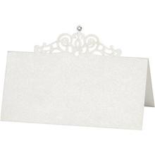 KARTEN und Zubehör / Cards Place cards, size 10,7x5,4 cm, cream, 10 pieces