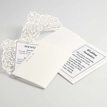 Map & Envelopes, card size 12x17,7 cm, cream, 5 pieces, 230 g