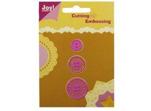Joy!Crafts und JM Creation Stansning og prægning skabelon: knapper