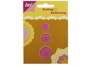 Joy!Crafts und JM Creation Troquelado y estampado en relieve plantilla: Botones
