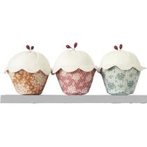 Tilda Materialset Cupcakes 3er Set, 14cm