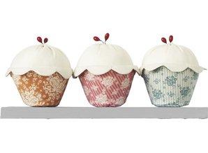 Tilda Tilda materiale sæt Cupcakes sæt med 3, 14 cm