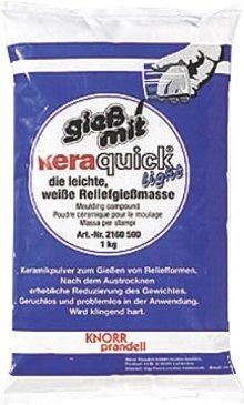 GIESSFORM / MOLDS ACCESOIRES Keraquick lys PE Beutel1kg hvid