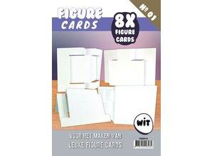 KARTEN und Zubehör / Cards Figure 1 Cards - Craft, white