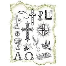 Transparent Stempel, Thema: religiöse Anlässe