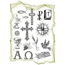 Transparent stamps Topic: religious occasions