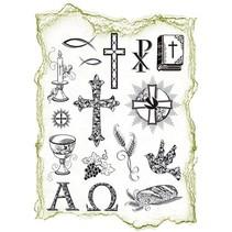 Trasparente francobolli Topic: occasioni religiose