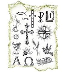 Viva Dekor und My paperworld Trasparente francobolli Topic: occasioni religiose