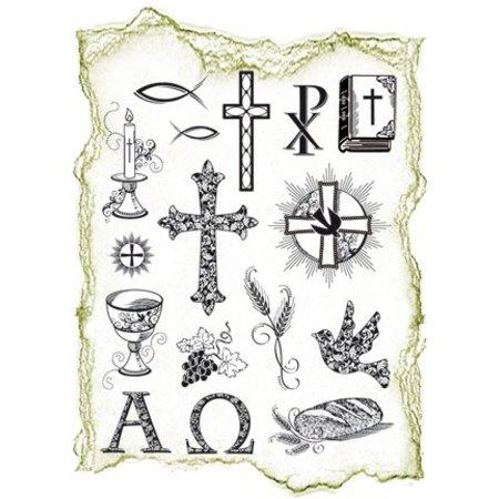 Viva Dekor und My paperworld Transparent Stempel, Thema: religiöse Anlässe