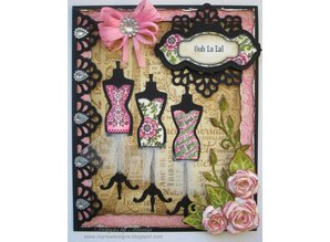 Spellbinders und Rayher Punching and embossing template: Shapeabilities Collection - Samantha Walker