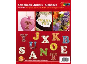 Sticker Scrapbook stickers alphabet, transparent-gold