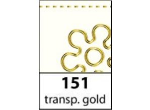 Sticker Scrapbog stickers alfabet, transparent-guld