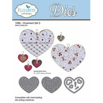 Punching and embossing stencil: heart with ornaments