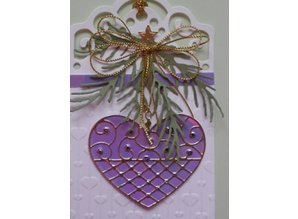 Taylored Expressions Punching and embossing stencil: heart with ornaments