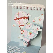 Punching and embossing templates: hot air balloons