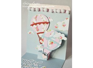 Taylored Expressions Punching and embossing templates: hot air balloons