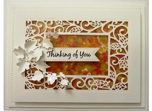 Creative Expressions Punching and embossing template: Scattered Leaves