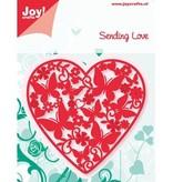 Joy!Crafts und JM Creation Stansning og prægning skabeloner: Hjerte med sommerfugle