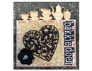 Joy!Crafts und JM Creation plantillas de punzonado y estampado en relieve: Corazón con las mariposas