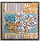 Joy!Crafts und JM Creation Stanz- und Prägeschablonen: Herz mit Schmetterlingen