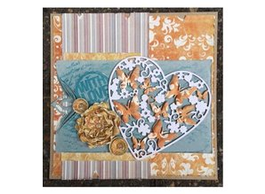 Joy!Crafts und JM Creation Punching and embossing templates: Heart with butterflies