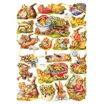 1 Vintage gloss sheet, 16.5 x 23.5cm, Topic: Easter