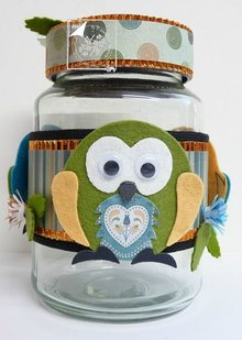 Joy!Crafts und JM Creation Corte y estampado de plantilla: Owl