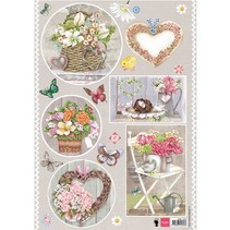 A4 pictures, topic: country style, heart