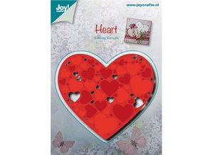 Joy!Crafts und JM Creation Stansning og prægning skabeloner: Hjerte med små hjerter