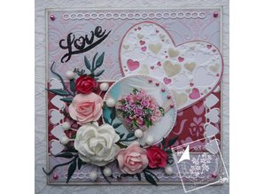 Joy!Crafts und JM Creation Punching and embossing templates: Heart with little hearts