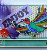 Stempel / Stamp: Transparent Transparent Stempel: Zentangle Vögel