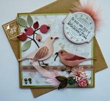 Joy!Crafts und JM Creation Gioia Crafts, punzonatura - e il modello goffratura Spring Love, fiori / frutti di bosco