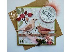 Joy!Crafts und JM Creation Joy Crafts, Stanz - und Prägeschablone, Spring Love, Blumen/Beeren