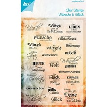 Stempel / Stamp: Transparent Transparent stamp: wishes and luck