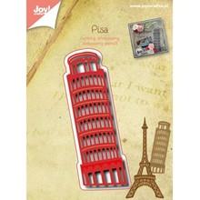 Joy!Crafts und JM Creation Stansning og prægning skabeloner: tårn i Pisa