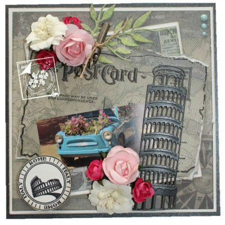 Joy!Crafts und JM Creation plantillas de punzonado y estampado en relieve: Torre de Pisa