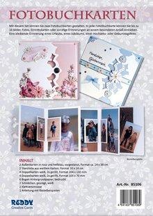 REDDY rillet komplet Bastelset for Fotobog kort rosa og lyseblå + 8 dual kort