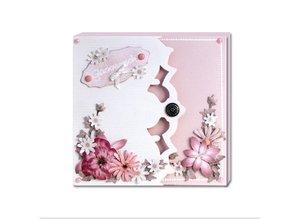 REDDY rillet komplet Bastelset for Fotobog Cards creme + 8 dual kort